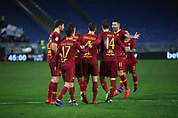 Ivan Marcano of AS Roma celebrates with team mates after scoring second goal for his side <br /> Roma 14-01-2019 Stadio Olimpico<br /> Football Calcio Coppa Italia 2018/2019 Round of 16  <br /> AS Roma - Virtus Entella<br /> Foto Gino Mancini / Insidefoto