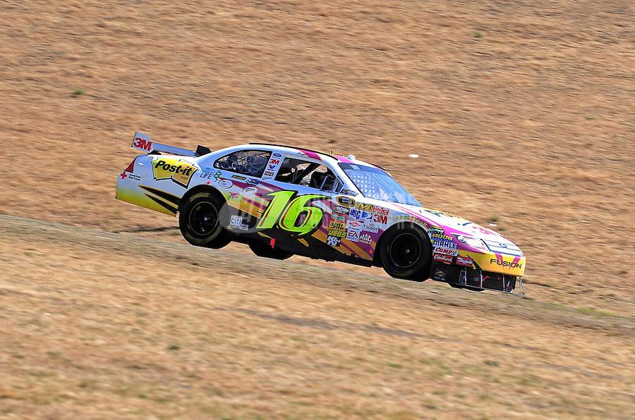 Jun. 21, 2009; Sonoma, CA, USA; NASCAR Sprint Cup Series driver Greg Biffle during the SaveMart 350 at Infineon Raceway. Mandatory Credit: Mark J. Rebilas-