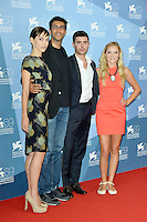 "August 31, 2012: Hallie Elizabeth Newton (screenwriter), Ramin Bahrani, Zac Efron and Maika Monroe  attend the ""At Any Price"" Photocall during the 69th Venice International Film Festival at Palazzo del Casino in Venice, Italy..Credit: © F2F / MediaPunch Inc."