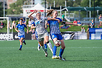 Boston, MA - Saturday June 24, 2017: Makenzy Doniak and Julie King during a regular season National Women's Soccer League (NWSL) match between the Boston Breakers and the North Carolina Courage at Jordan Field.