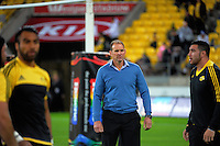 Hurricanes assistant coach John Plumtree during the Super Rugby match between the Hurricanes and Jaguares at Westpac Stadium, Wellington, New Zealand on Saturday, 9 April 2016. Photo: Dave Lintott / lintottphoto.co.nz