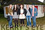 Caitlín O'Flaherty, artists Dervla O'Flaherty and Aine Ní Chíobhain, Sarah Benison and Ída Keough (Dingle) during Oíche Chultúir at an Lab, Dingle, on Friday.