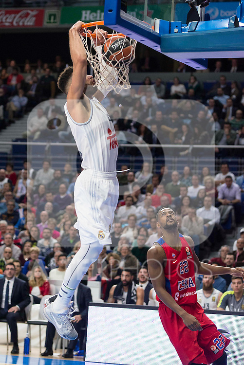 Real Madrid's player Jeffery Taylor during the match between Real Madrid and CSKA Moscu of Turkish Airlines Euroleague at Barclaycard Center in Madrid, March 02, 2016. (ALTERPHOTOS/BorjaB.Hojas) during the match between Real Madrid and CSKA Moscu of Turkish Airlines Euroleague at Barclaycard Center in Madrid, March 02, 2016. (ALTERPHOTOS/BorjaB.Hojas)