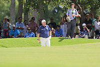 Shane Lowry (IRL) in a fairway bunker for his 2nd shot on the 1st hole during Saturday's Round 3 of the 2017 PGA Championship held at Quail Hollow Golf Club, Charlotte, North Carolina, USA. 12th August 2017.<br /> Picture: Eoin Clarke | Golffile<br /> <br /> <br /> All photos usage must carry mandatory copyright credit (&copy; Golffile | Eoin Clarke)