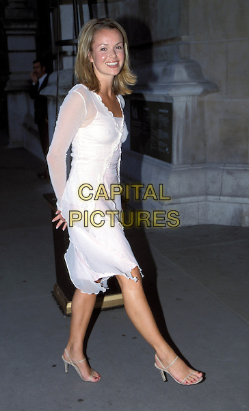 AMANDA HOLDEN.Ref: 11749.sales@capitalpictures.com.www.capitalpictures.com.©Capital Pictures.white chiffon dress
