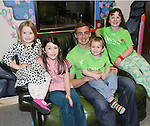 25/10/2014.   Munster Rugby's Tommy O'Donnell an ambassador of iCAN (Irish Childrens Arthritis Network)photographed on Saturday in Kids Town, Gillogue with Roisin Sweeney(11), Noirin Sweeney(4), Jamie Kennedy(3) and Caoimhe Costello(10).<br /> Picture: Liam Burke/Press 22