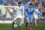 Getafe CF's Mauro Arambarri and Celta de Vigo's Maxi Gomez during La Liga match. February 09,2019. (ALTERPHOTOS/Alconada)