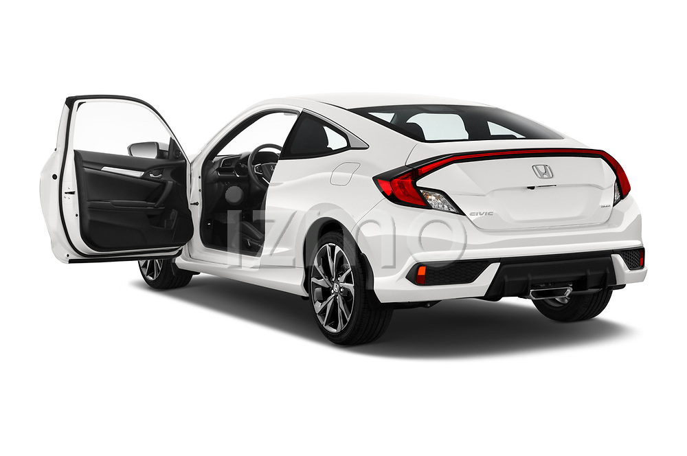 Car images close up view of a 2019 Honda Civic-Coupe Sport 2 Door Coupe doors
