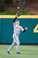 Taylor Doggett #21 of the Wichita State Shockers catches a ball in center field during a game against the Missouri State Bears at Hammons Field on May 5, 2013 in Springfield, Missouri. (David Welker/Four Seam Images)