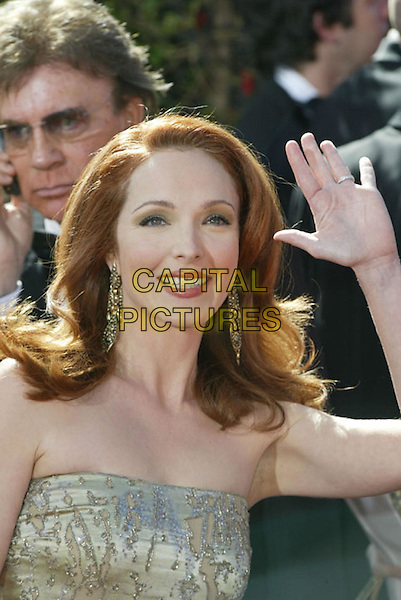 AMY YASBECK.At the 56th Annual Prime Time Emmy Awards held the Shrine Auditorium, Los Angeles, CA, USA, .19th September, 2004..portrait headshot waving.Ref: ADM.www.capitalpictures.com.sales@capitalpictures.com.©Charles Harris/AdMedia/Capital Pictures .