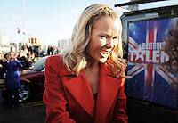 Britain's got Talent / Glasgow..... Judge Amanda Holden arrives to a huge crowd at Glasgow's Armadillo.....