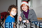 +++Reproduction Free+++ Kerry's Eye<br /> Cousins Cieran and Evelyn Murphy getting into the Christmas cheer last Sunday at the Brosna Christmas Market.