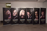 "NEW YORK CITY - APRIL 20: Movie Posters on display at the  Sotheby's lunch and private preview of works by Picasso in conjunction with the National Geographic show ""Genius: Picasso"" at Sotheby's on April 20, 2018 in New York City. (Photo by Anthony Behar/ National Geographic/PictureGroup)"