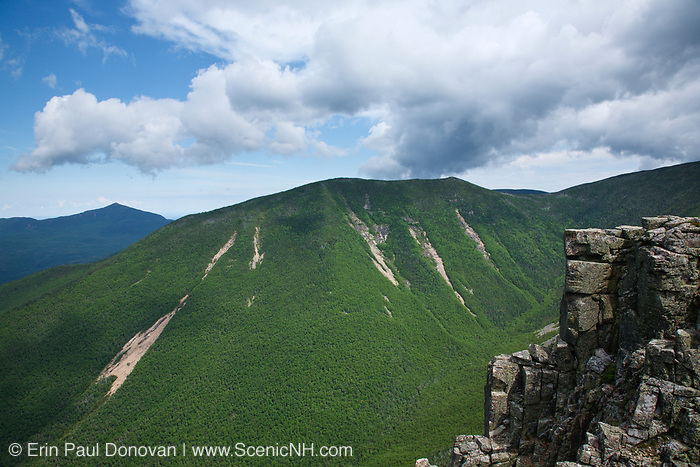 Looking across Hellgate Ravine at West Bond from Bondcliff Mountain in the Pemigewasset Wilderness of  New Hampshire during the summer months.