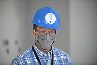 David Johnson, executive director of the Fayetteville Public Library, Thursday, July 30, 2020, as he leads a tour of the the new expansion area of the library still under construction. The new addition of 82,500-square-feet will nearly double the size of the 88,000-square-foot main library. Check out nwaonline.com/200802Daily/ and nwadg.com/photos for a photo gallery.<br /> (NWA Democrat-Gazette/David Gottschalk)