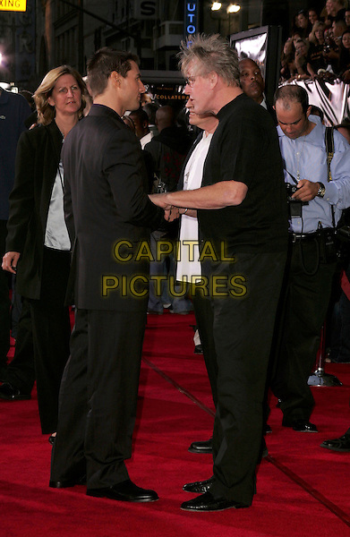 """TOM CRUISE & GARY BUSEY.AT The Los Angeles Premiere of """"Collateral"""" held at The historic Orpheum Theatre in Downtown Los Angeles, California .August 2,2004.full length, black, talking, speaking.www.capitalpictures.com.sales@capitalpictures.com.Supplied By Capital Pictures"""