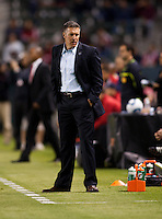 Sporting Kansas City head coach Peter Vermes. Sporting KC defeated CD Chivas USA 3-2 at Home Depot Center stadium in Carson, California on Saturday March 19, 2011...