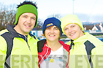 The Kennedy's from Castlegregory who ran the Puck Warriors Jingle run 10km in Killorglin on Saturday in memory of their father l-r: Brian, Breda and Mairead Kennedy