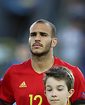 Spain's Sandro Ramirez in action during the UEFA Under 21 Final at the Stadion Cracovia in Krakow. Picture date 30th June 2017. Picture credit should read: David Klein/Sportimage