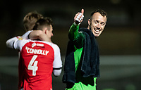 Fleetwood Town's goalkeeper Alex Cairns celebrates victory at the end of the match<br /> <br /> Photographer Andrew Kearns/CameraSport<br /> <br /> The EFL Sky Bet League One - Wycombe Wanderers v Fleetwood Town - Tuesday 11th February 2020 - Adams Park - Wycombe<br /> <br /> World Copyright © 2020 CameraSport. All rights reserved. 43 Linden Ave. Countesthorpe. Leicester. England. LE8 5PG - Tel: +44 (0) 116 277 4147 - admin@camerasport.com - www.camerasport.com