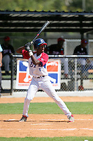Simon Echavarria participates in the Dominican Prospect League 2014 Louisville Slugger Tournament at the New York Yankees academy in Boca Chica, Dominican Republic on January 20-21, 2014 (Bill Mitchell)