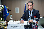 "BRUSSELS - BELGIUM - 23 November 2016 -- European Training Foundation (ETF) Conference on ""GETTING ORGANISED FOR BETTER QUALIFICATIONS"". -- Marko Vukasinovic, Ministry of Education Head of the Department for International Cooperation and European Integration (Montenegro). -- PHOTO: Juha ROININEN / EUP-IMAGES"