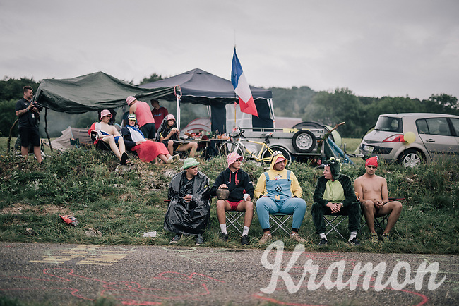 waiting roadside fans<br /> <br /> 104th Tour de France 2017<br /> Stage 9 - Nantua › Chambéry (181km)