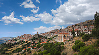 Arachova is a traditional village on the slopes of mount Parnassus, Greece