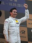 10.09.2017, N&uuml;rburgring, N&uuml;rburg, DTM 2017, 14.Lauf N&uuml;rburgring,08.09.-10.09.2017 , im Bild<br /> Podium:<br /> Sieger Robert Wickens (CDN#6) Mercedes-AMG Motorsport Mercedes me, Mercedes-AMG C 63 DTM ,  2.Platz f&uuml;r Paul Di Resta (GBR#3) Mercedes-AMG Motorsport SILBERPFEIL Energy, Mercedes-AMG C 63 DTM , 3.Platz f&uuml;r Marco Wittmann (DEU#11) BMW Team RMG, Red Bull BMW M4 DTM <br /> <br /> Foto &copy; nordphoto / Bratic