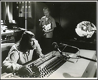 BNPS.co.uk (01202 558833).Pic: FameBureau/BNPS..Brian Wilson at the mixing desk in the late sixties...Get me Wonga.....A 'lost' archive of original music manuscripts, contracts and pictures of the Beach Boys has emerged for sale for nearly seven million pounds...The vast collection, that spans the first 20 years of the band's hugely successful career and consists of thousands of documents, was found forgotten in a storage unit...The treasure trove includes the sheet music for the Beach Boys' classic hits like 'God Only Knows', 'Good Vibrations' and 'Fun, Fun, Fun.'..It also includes handwritten lyrucs, recording contracts and copyright certificates signed by Brian Wilson and Mike Love, musical arrangements, royalty cheques and personal letters...And there are more than 60 behind-the-scenes photos of the hugely successful American rock band, many of them never seen before..