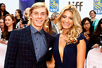 Canadian Tennis Player Denis Shapovalov and Morgan Krizmanich attending the 'Borg/McEnroe' premiere during the 42nd Toronto International Film Festival at Thomson Hall on September 07, 2017  in Toronto, Canada