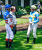 Erin Rodjare and Tara Hynes before The International Ladies Fegentri race at Delaware Park on 6/13/17