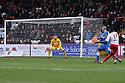 Lucas Akins of Stevenage shoots wide. Stevenage v Leyton Orient - npower League 1 -  Lamex Stadium, Stevenage - 2nd February, 2013. © Kevin Coleman 2013.