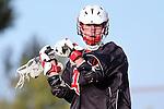 Palos Verdes, CA 03/30/10 - Aaron Richland (Palos Verdes #4) in action during the Palos Verdes-Peninsula JV Boys Lacrosse game.