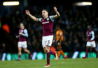 James Chester of Aston Villa celebrates scoring Aston Villas second goal <br /> <br /> Photographer Leila Coker/CameraSport<br /> <br /> The EFL Sky Bet Championship - Aston Villa v Wolverhampton Wanderers - Saturday 10th March 2018 - Villa Park - Birmingham<br /> <br /> World Copyright &copy; 2018 CameraSport. All rights reserved. 43 Linden Ave. Countesthorpe. Leicester. England. LE8 5PG - Tel: +44 (0) 116 277 4147 - admin@camerasport.com - www.camerasport.com