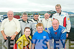 5972-5974.---------.Need for speed.--------------.Motor racing stars at the Rally Sprint last Saturday at Ballybeggan,organised by Kerry Motor club were(front)L-R Ciara,Dylan and Brendan Savage(Back)L-R Sean Kelliher,Don Rogers,sean moriarty,Kevin Walsh and Kevin Savage. all tralee