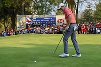 Rory McIlroy (NIR) sinks his putt on 18 during round 4 of the World Golf Championships, Mexico, Club De Golf Chapultepec, Mexico City, Mexico. 2/24/2019.<br /> Picture: Golffile | Ken Murray<br /> <br /> <br /> All photo usage must carry mandatory copyright credit (© Golffile | Ken Murray)
