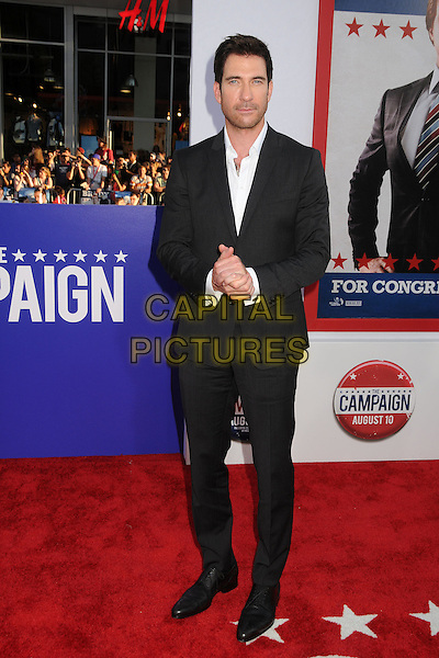 "Dylan McDermott.""The Campaign"" Los Angeles Premiere held at Grauman's Chinese Theatre, Hollywood, California, USA..August 2nd, 2012.full length shirt suit white black stubble facial hair hands.CAP/ADM/BP.©Byron Purvis/AdMedia/Capital Pictures."