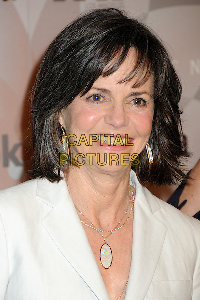 SALLY FIELD.2010 Women In Film Crystal+Lucy Awards held at the Hyatt Regency Century Plaza Hotel, Century City, California, USA..June 1st, 2010.headshot portrait silver white necklace earrings gold .CAP/ADM/BP.©Byron Purvis/AdMedia/Capital Pictures.