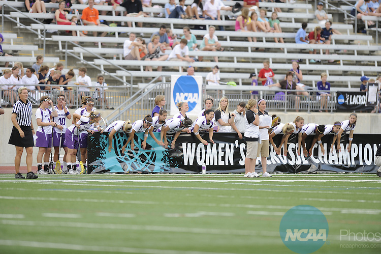 24 MAY 2009: Northwestern University takes on the University of North Carolina during the Division I Women's Lacrosse Championship held at Johnny Unitas Stadium on the Towson University campus in Towson, MD.  Northwestern defeated UNC 21-7 for the national title.  Greg Fiume/NCAA Photos