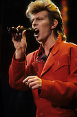 DAVID BOWIE - performing live on the Glass Spider Tour at the Stade de Gerland in Lyon France - 28 Jun 1987.  Photo credit: Joseph Carlucci/Dalle/IconicPix  **UK ONLY**
