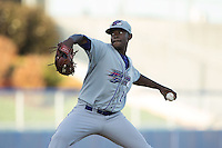 Winston-Salem Dash starting pitcher Andre Wheeler (25) in action against the Salem Red Sox at LewisGale Field at Salem Memorial Ballpark on May 13, 2015 in Salem, Virginia.  The Red Sox defeated the Dash 8-2.  (Brian Westerholt/Four Seam Images)