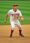 12 April 2008: Washington Nationals' third baseman Ryan Zimmerman in action against the Atlanta Braves at Nationals Park, in Washington, DC. The Braves defeated the Nationals 10-2...Mandatory Photo Credit: Ed Wolfstein Photo