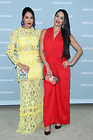 NEW YORK, NY - MAY 14: Brie Bella and Nikki Bella at the 2018 NBCUniversal Upfront at Rockefeller Center in New York City on May 14, 2018.  <br /> CAP/MPI/RW<br /> &copy;RW/MPI/Capital Pictures