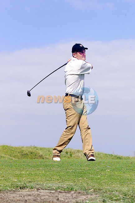 William Johnston teeing off in the Julianstown Church of Ireland Golf Classic..Picture Fran Caffrey Newsfile...This Picture is sent to you by:..Newsfile Ltd.The View, Millmount Abbey, Drogheda, Co Louth, Ireland..Tel: +353419871240.Fax: +353419871260.GSM: +353862500958.ISDN: +353419871010.email: pictures@newsfile.ie.www.newsfile.ie