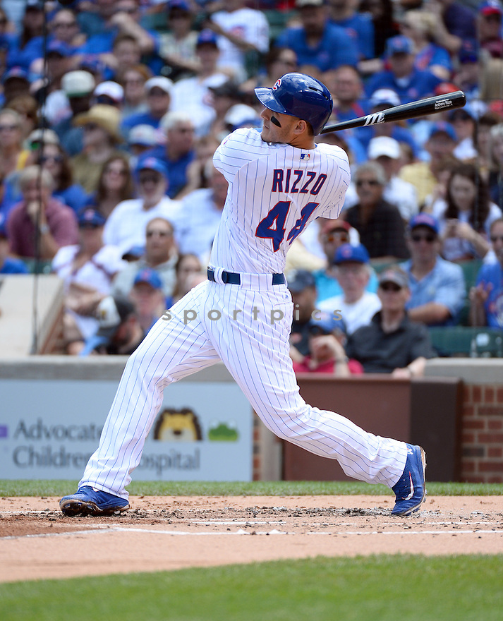 Chicago Cubs Anthony Rizzo (44) during a game against the St. Louis Cardinals on June 22, 2016 at Wrigley Field in Chicago, IL. The Cardinals beat the Cubs 7-2.