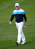 16.10.2014. The London Golf Club, Ash, England. The Volvo World Match Play Golf Championship.  Day 2 group stage matches.  Jamie Donaldson [WAL] approaches the seventh green.