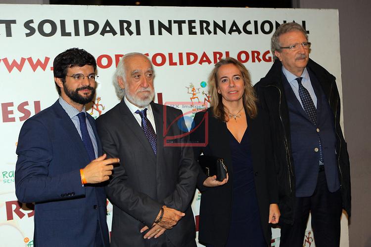 XIV Sopar Solidari de Nadal.<br /> Esport Solidari Internacional-ESI.<br /> Gerard Esteva, Josep Maldonado, Maria Lluis & Joan Fa.