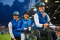 Team Netherlands during the Jump and Drive. Tim Lips (Eventing); Jur Vrieling (Jumping); Bram Chardon (Driving). 2019 GER-CHIO Aachen Weltfest des Pferdesports. Saturday 20 July. Copyright Photo: Libby Law Photography