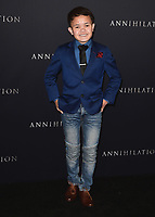 """WESTWOOD, CA - FEBURARY 13:  Sam Humphrey at the Los Angeles premiere of """"Annihilation"""" at the Regency Village Theatre on February 13, 2018 in Westwood, California. (Photo by Scott Kirkland/PictureGroup)"""